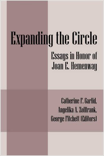 Book cover for Expanding the Circle: Essays in Honor of Joan Hemenway. A light purple cover.